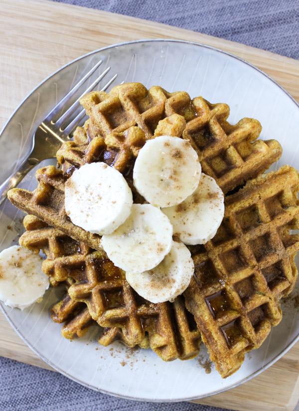 Pumpkin Banana Waffles – Clean Plate Mama