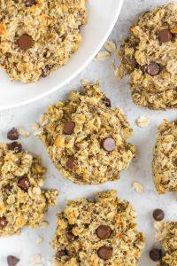 overhead close-up view of breakfast cookies