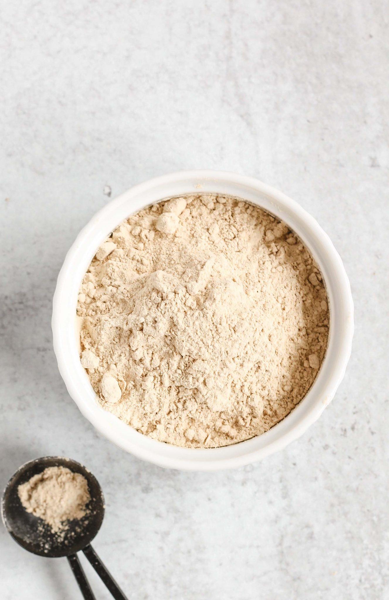 powdered coconut sugar in small white dish
