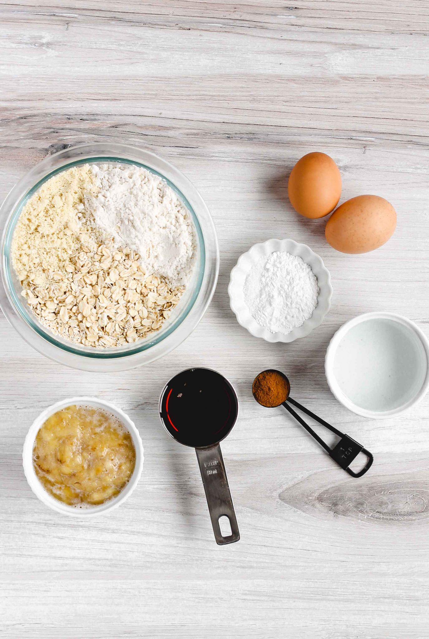 ingredients used to make banana muffins