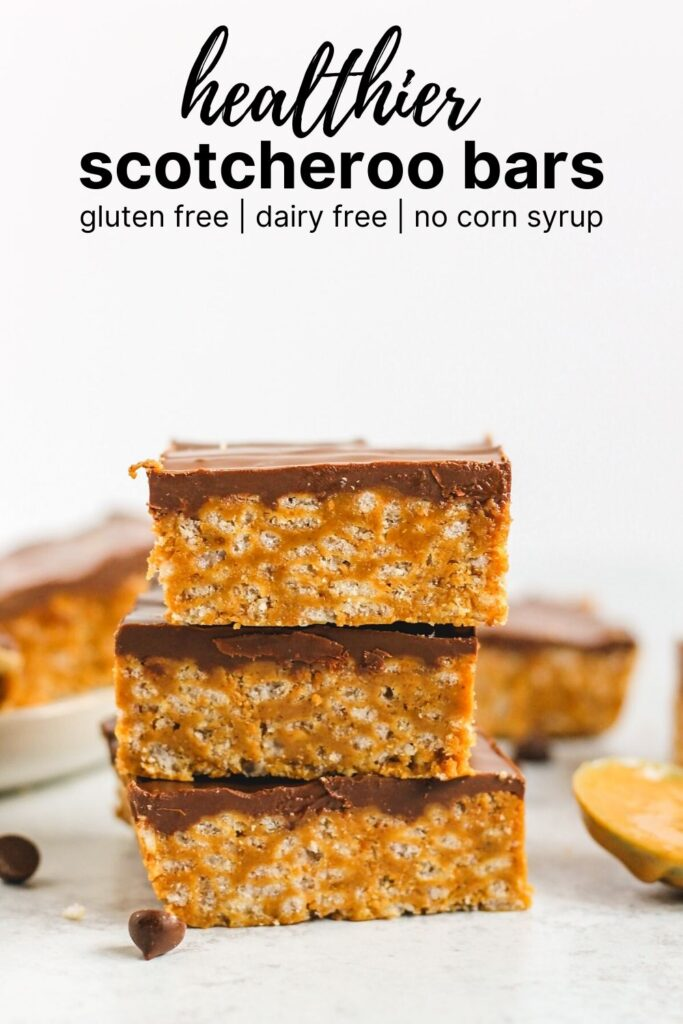 pinterest pin for scotcheroo bar recipe