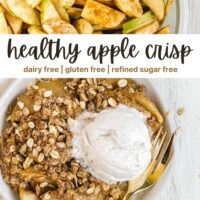 pinterest pin for gluten free apple crisp recipe