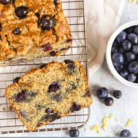Pinterest pin for blueberry lemon bread
