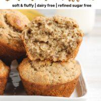 Pinterest pin for gluten-free banana muffins