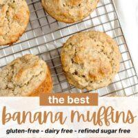 Pinterest pin for banana gluten-free banana muffins
