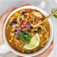 Pinterest pin for southwestern chicken chili