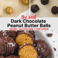 3 image pinterest pin for peanut butter balls