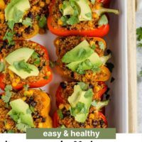 pinterest pin for Mexican stuffed peppers