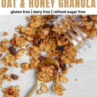 the best oat and honey granola Pinterest pin