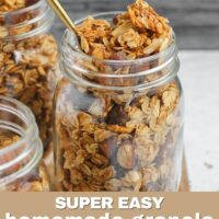 Super Easy Homemade Granola Pinterest pin