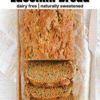 Pinterest pin for gluten-free zucchini bread