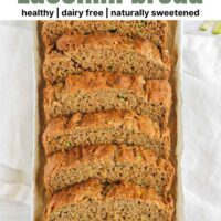Pinterest pin for the best gluten-free zucchini bread