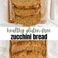 healthy gluten-free zucchini bread Pinterest pin