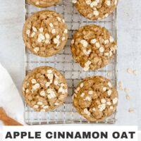 Pinterest pin for apple cinnamon oat flour muffins