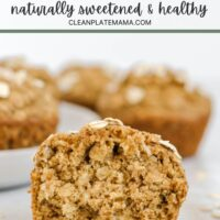 Pinterest pin for apple cinnamon oat muffins