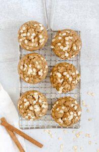 oat flour muffins on a wire cooling rack