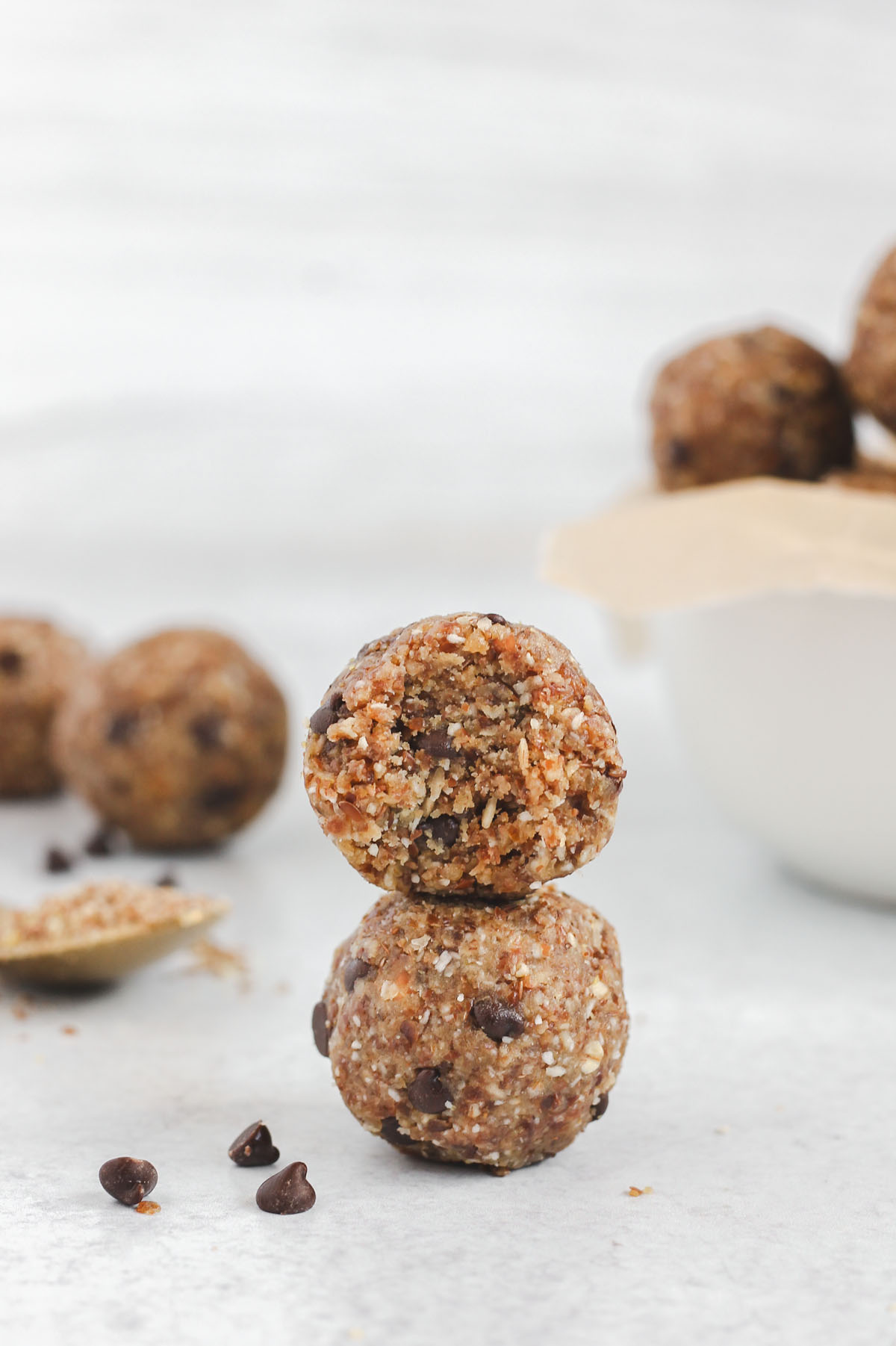 energy balls stacked two high