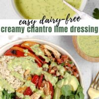 Pinterest pin for creamy cilantro lime dressing