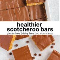 Pinterest pin for scotcheroo bars