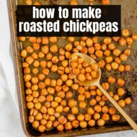 Pinterest pin for roasted chickpeas.