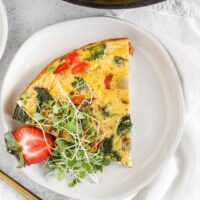 Pinterest pin for dairy-free frittata