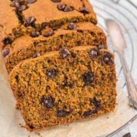 Pinterest pin for gluten-free pumpkin bread.